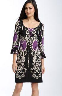 Muse Ruffle Sleeve Print Jersey Shift Dress
