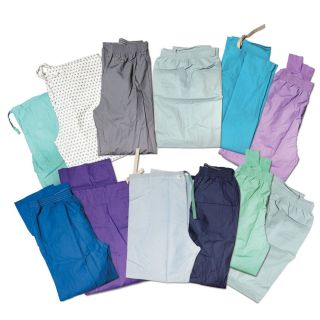 12 Scrub Bottoms Pants Nurses Doctor Surgical Mens Womens Scrubs