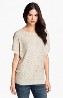 Haute Hippie Sequin Ribbed Dolman Sweater