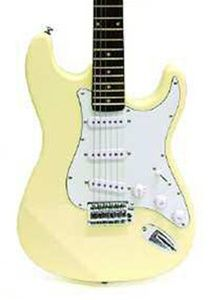 crestwood st920 double cutaway electric guitar cream