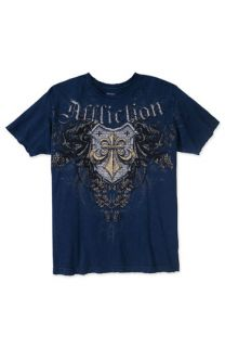 Affliction Print Crewneck T Shirt (Men)