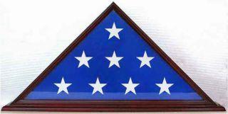 US VETERAN MILITARY MEMORIAL AMERICAN BURIAL FLAG DISPLAY CASE SOLID