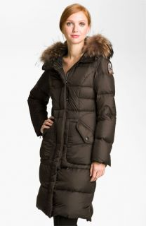 Parajumpers Down Coat with Genuine Raccoon Fur Trim