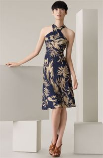 Ralph Lauren Black Label Kinsley Palm Print Silk Dress