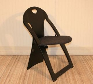 Vtg Mid Century Modern Peter Danko Black Plywood Sculpted Folding