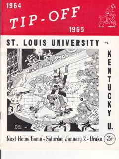Kentucky Basketball v St Louis Game Program Rupp Riley Dampier Kron