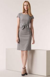 Armani Collezioni Tie Front Wool Blend Dress