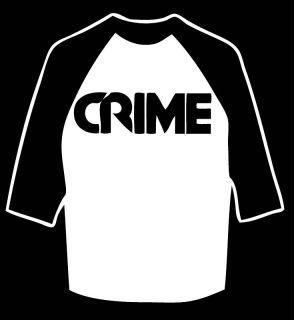 Crime Baseball Shirt KBD Punk Lewd Fang Weirdos MDC