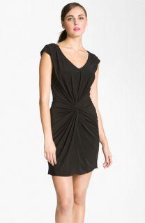 Trina Turk Andry V Neck Knotted Front Jersey Dress