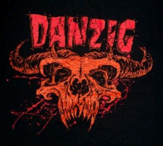 Danzig CD lgo Demi Skull Official Shirt Small New Samhain Misfits