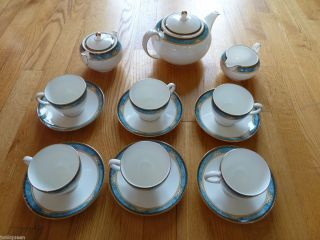 Wedgwood England Curzon Pattern Tea Coffee Service Set