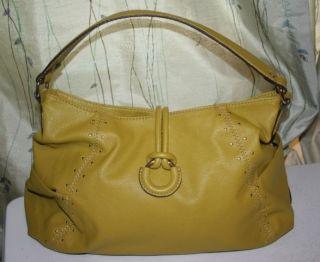 Dana Buchman Lime Green Studded Hobo Bag Purse