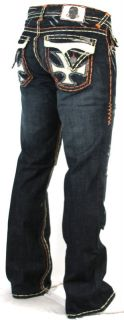 Mens Laguna Beach Jeans Dana Point Orange Stitch Bootcut