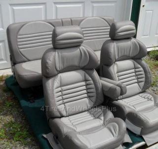 New Custom Gray Leather Seats Ford F250 F350 F450 F550 Van Dodge Ram