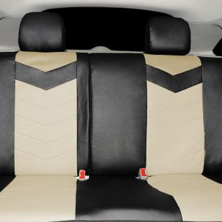 Synthetic Leather Semi Custom Car Seat Covers 40 60 Top Split Sahara 2