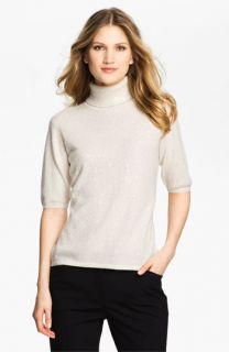 Pure Amici Embellished Cashmere Turtleneck Sweater