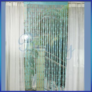 Fringe Door Window Panel Room Divider String Curtain Turquoise
