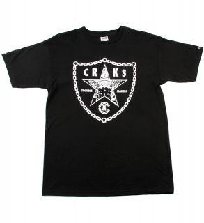 Crooks Castles Raiders Black White Logo T Shirt Medium New in Bag