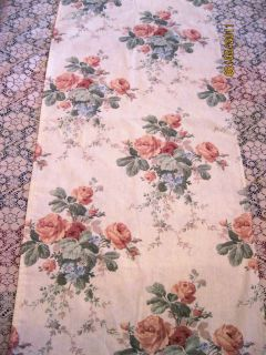 Croscill Victoria Pink Roses on Cream Table Runner Dresser Scarf