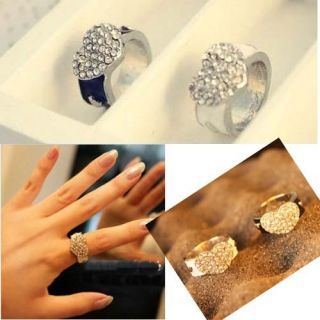 Price Rhinestone Sweet Lovely Peach Heart Love Cute Ring Rings