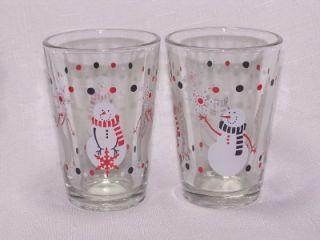 christmas snowman wine goblets glasses libbey glass