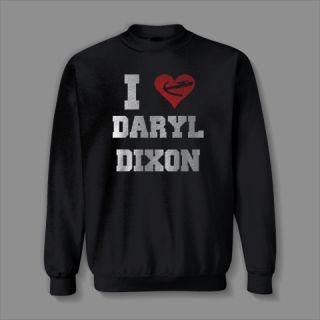 HEART DARYL DIXON FUNNY crossbow ZOMBIE WALKING DEAD Sweatshirt