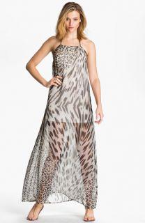 Young, Fabulous & Broke Gila Leopard Chiffon Maxi Dress