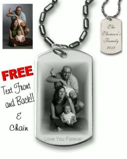 Custom Photo Dog Tag Personalized Dog Tag Necklace