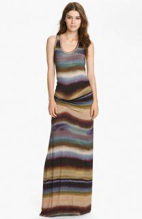 Young, Fabulous & Broke Hamptons Tie Dyed Stripe Maxi Dress