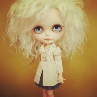 Ooak custom blythe big eyes doll with pure neemo body by Natcase1