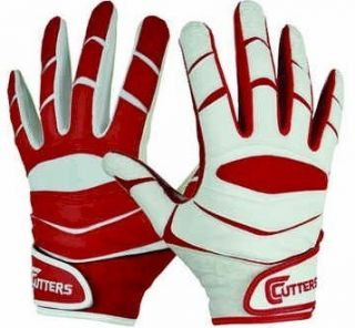 Cutters x40 Revolution Ying Yang Football Receiver Gloves Red White