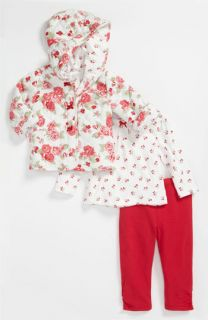 Little Me Barberry Roses Top, Pants & Jacket (Infant)