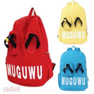 Fashion Cute Lovely Slippers Backpack Handbag Satchel Shoulder Bag