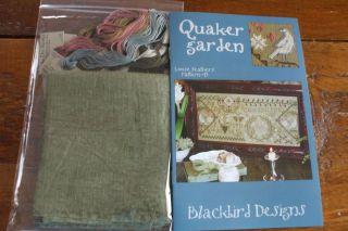 Blackbird Designs Counted Cross Stitch Quaker Garden Kit with Floss