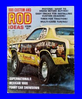 1001 Custom and Rod Ideas Spring 1971 Mexican 1000 Funny Car Hot Rod
