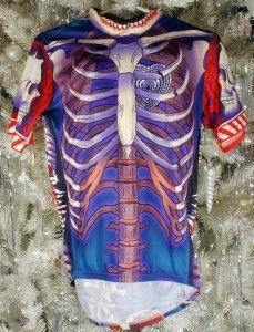 primal wear bone collector short sleeve skeleton design cycling jersey