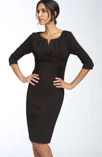 Adrianna Papell Ruched Matte Jersey Sheath Dress