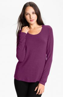 Eileen Fisher Slim Silk Blend Tee (Online Exclusive)