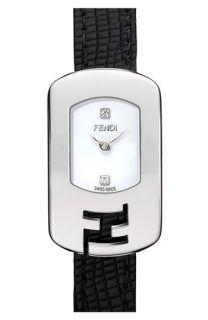 Fendi Chameleon Leather Strap Watch
