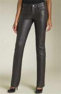 Paige Black Label Hyde Park Skinny Leather Pants