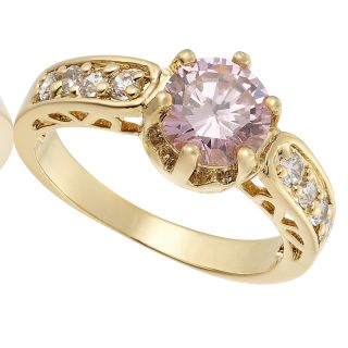 Round Cut Pink Sapphire Topaz Ring Women Dress Jewelry 6 M 1141PIN6