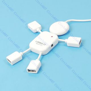 Cute USB 2 0 High Speed 4 Port Hub Man Adapter Laptop