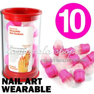 Nail Soakers for Acrylic Nail Art Removal Acetone Remove Liquid Polish