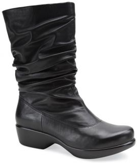 Dansko Womens Aurora Black Nappa Leather Boot EU 41 US 10 5