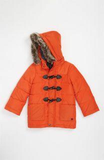 Paul Smith Junior Cleon Hooded Puff Jacket with Faux Fur Trim (Little Boys & Big Boys)