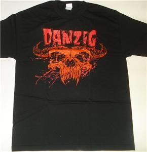 danzig demi skull t shirt l metal new