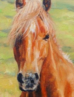 Wild Pony Superb David Stribbling Horse Oil Painting