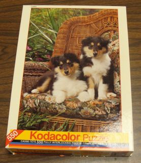 Puppy 550 Piece KODACOLOR1994 Rose Art Jigsaw Puzzle Complete