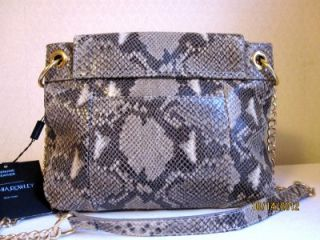 CYNTHIA ROWLEY PHYTON PRINT Leather Shoulder /Crossbody Bag Handbag