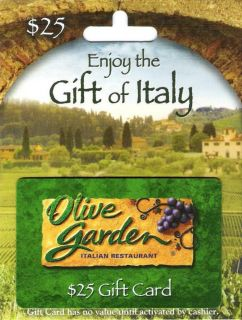 25 Olive Garden Gift Card Darden Restaurants Red Lobster LongHorn